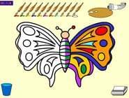 تلوين الفراشة