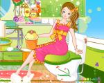 لعبة فتاة فى الحمام