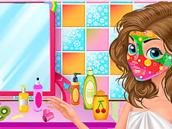 لعبة تنظيف الوجه ووضع الماسك