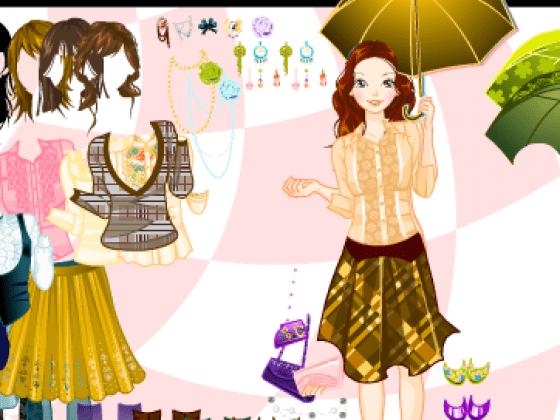 العاب تلبيس بنات تحت المطر