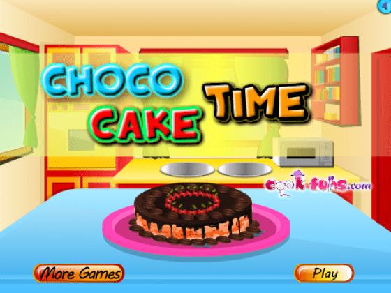 لعبة طبخ كيكة شوكولاتة