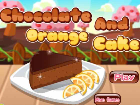 العاب طبخ كيك الشوكولاتة بالبرتقال