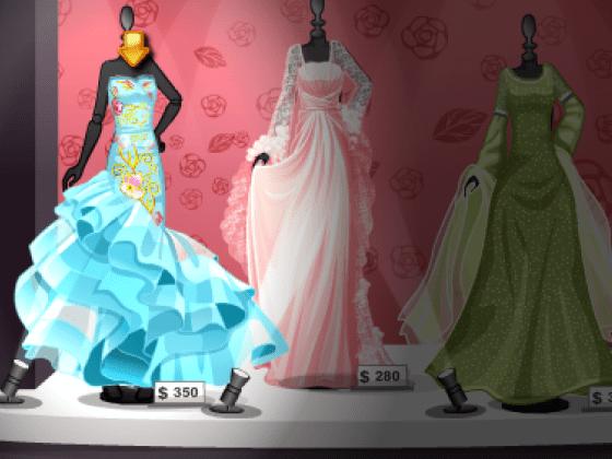 لعبة الفساتين الانيقة للبنات