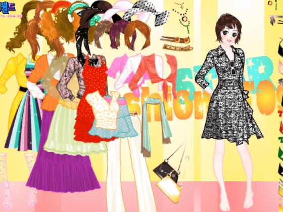 9cf17180f العاب جيمزات :: العاب تلبيس بنات ملابس ملونة