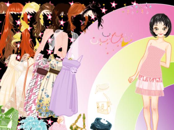 العاب تلبيس الفساتين الانيقة