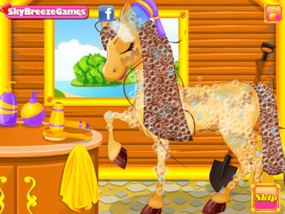 لعبة تنظيف الحصان