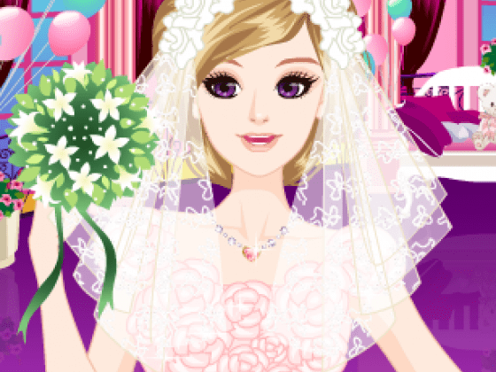 العاب تلبيس فستان الزفاف ومكياج