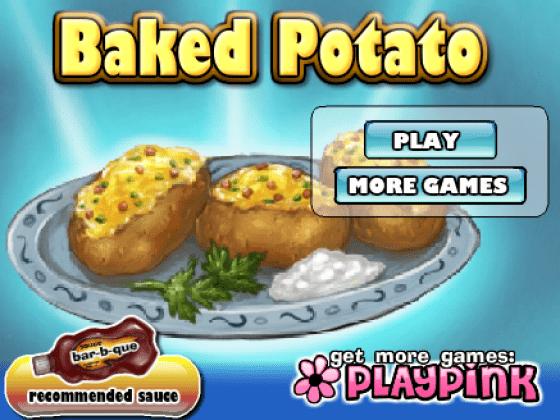 العاب طبخ البطاطس المخبوزة