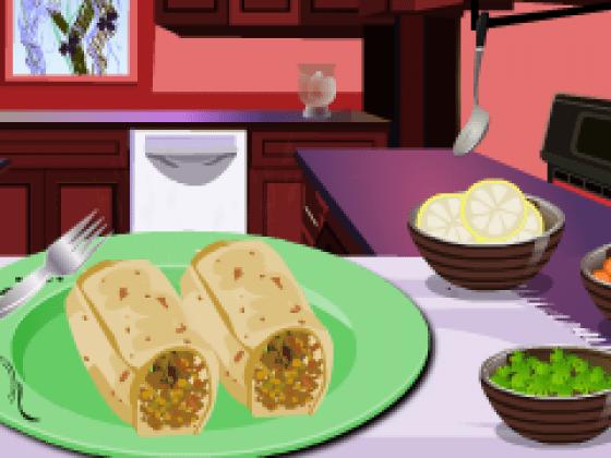العاب طبخ رولات لحمة مشوية
