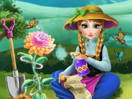 العاب زراعة الزهور في الحديقة